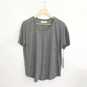 Lacausa Heather Gray Forever Tee Relaxed Fit